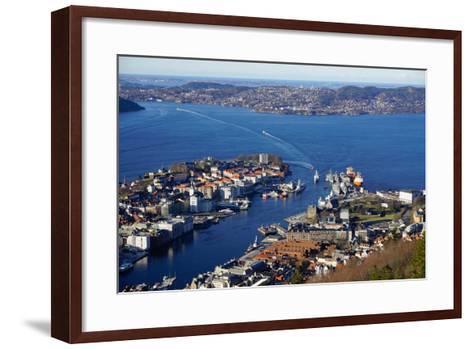 View of Bergen from Mount Floyen, Bergen, Hordaland, Norway, Scandinavia, Europe-Robert Harding-Framed Art Print