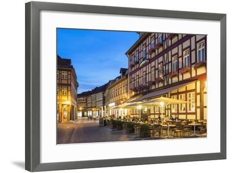 Market Square and Town Hall at Twilight, Wernigerode, Harz, Saxony-Anhalt, Germany, Europe-G & M Therin-Weise-Framed Art Print