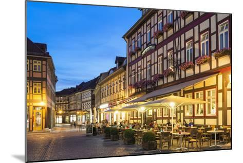 Market Square and Town Hall at Twilight, Wernigerode, Harz, Saxony-Anhalt, Germany, Europe-G & M Therin-Weise-Mounted Photographic Print