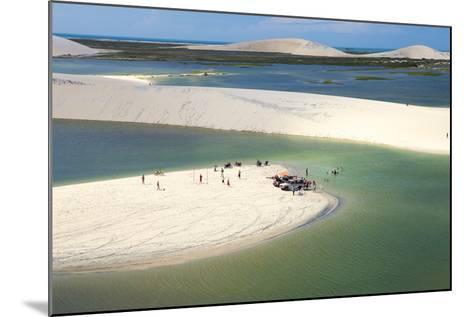 Aerial of Dunes Near Jericoacoara, Ceara, Brazil, South America-Alex Robinson-Mounted Photographic Print