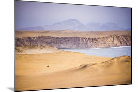 Hikers Hiking in Desert and Sand Dunes, Ica, Peru-Matthew Williams-Ellis-Mounted Photographic Print