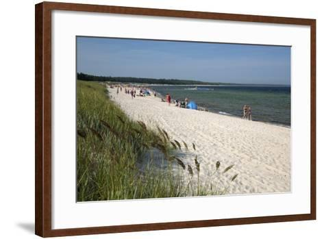 Lyckesand Beach Backed by Sand Dunes, Baltic Coast-Stuart Black-Framed Art Print