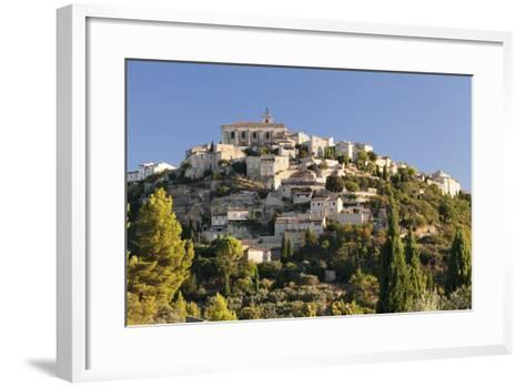 Hilltop Village of Gordes, Provence, Provence-Alpes-Cote D'Azur, Southern France, France, Europe-Markus Lange-Framed Art Print