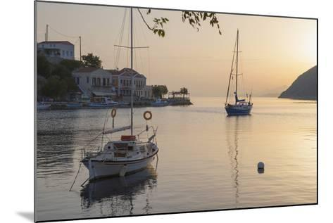 View across the Tranquil Harbour, Dodecanese Islands-Ruth Tomlinson-Mounted Photographic Print