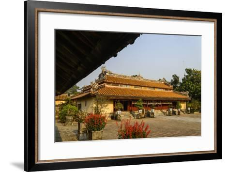 Tomb of the Emperor Minh Mang of Nguyen Dynasty, Sung an Palace, Group of Hue Monuments-Nathalie Cuvelier-Framed Art Print