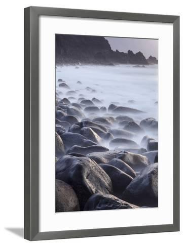 Basalt Boulders in the Ocean, El Golfo, El Hierro, Canary Islands, Spain-Markus Lange-Framed Art Print