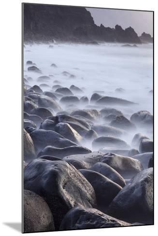 Basalt Boulders in the Ocean, El Golfo, El Hierro, Canary Islands, Spain-Markus Lange-Mounted Photographic Print