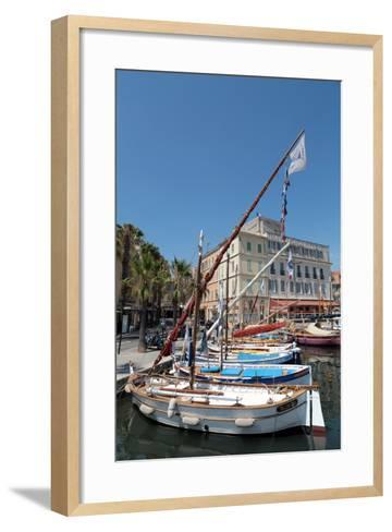 Traditional Fishing Boats Moored in the Harbour at Sanary-Sur-Mer, Provence, France, Europe-Martin Child-Framed Art Print