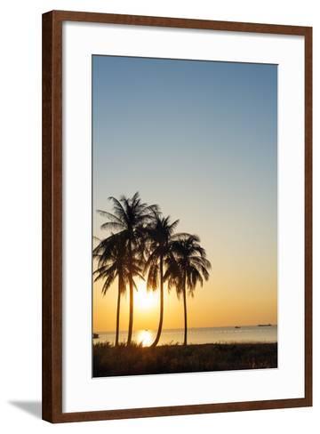 Sunset at Long Beach, Phu Quoc Island, Vietnam, Indochina, Southeast Asia, Asia-Christian Kober-Framed Art Print