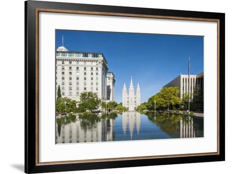 Salt Lake Temple, Temple Square, Salt Lake City, Utah, United States of America, North America-Michael DeFreitas-Framed Art Print