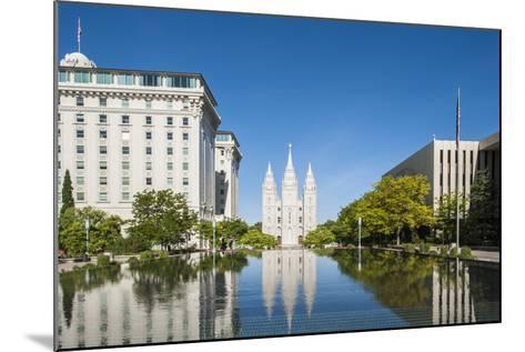 Salt Lake Temple, Temple Square, Salt Lake City, Utah, United States of America, North America-Michael DeFreitas-Mounted Photographic Print