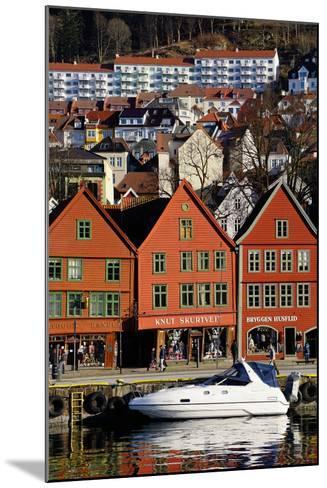 Traditional Wooden Hanseatic Merchants Buildings of the Bryggen, Bergen, Norway, Scandinavia-Robert Harding-Mounted Photographic Print