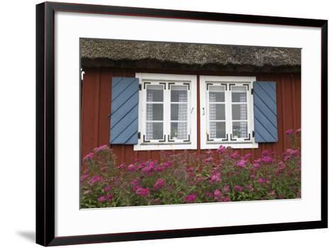 Typical Swedish Cottage Window, Arild, Kulla Peninsula, Skane, South Sweden, Sweden, Scandinavia-Stuart Black-Framed Art Print