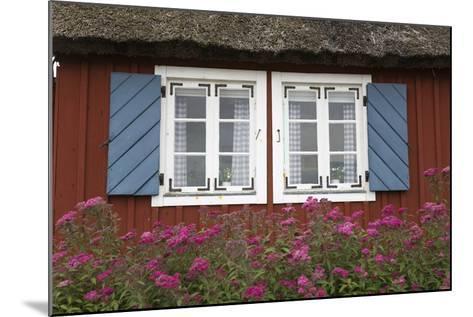 Typical Swedish Cottage Window, Arild, Kulla Peninsula, Skane, South Sweden, Sweden, Scandinavia-Stuart Black-Mounted Photographic Print