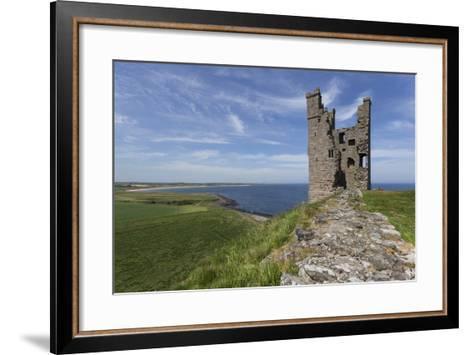 Ruins of Dunstanburgh Castle, Overlooking Fields and Embleton Bay, Northumberland, England, U.K.-Eleanor Scriven-Framed Art Print
