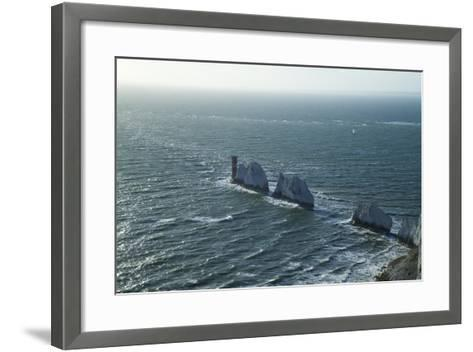 View of the Needles, Isle of Wight, England, United Kingdom, Europe-Peter Barritt-Framed Art Print