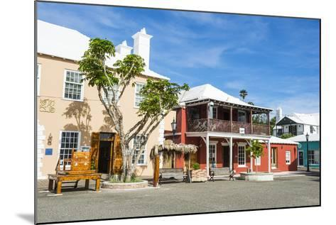 Colonial Houses in the UNESCO World Heritage Site, the Historic Town of St George, Bermuda-Michael Runkel-Mounted Photographic Print