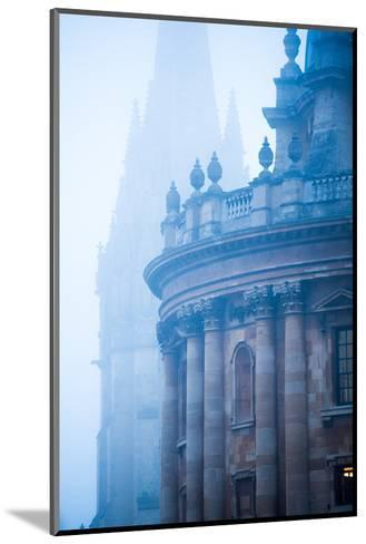 Radcliffe Camera and St. Mary's Church in the Mist, Oxford, Oxfordshire, England, United Kingdom-John Alexander-Mounted Photographic Print