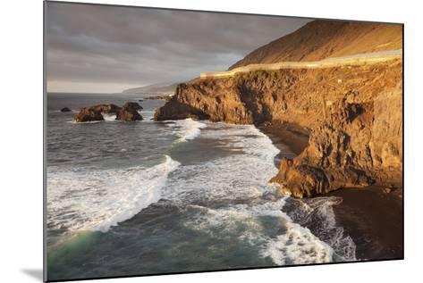 Zamora Beach at Sunset (Playa De La Zamora) Near Fuencaliente, La Palma, Canary Islands, Spain-Markus Lange-Mounted Photographic Print