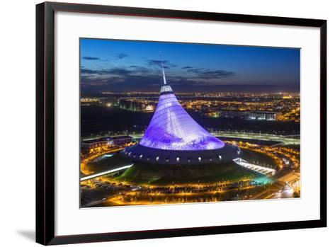 Night View over Khan Shatyr Entertainment Center, Astana, Kazakhstan, Central Asia-Gavin Hellier-Framed Art Print