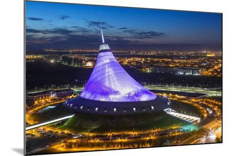 Night View over Khan Shatyr Entertainment Center, Astana, Kazakhstan, Central Asia-Gavin Hellier-Mounted Photographic Print