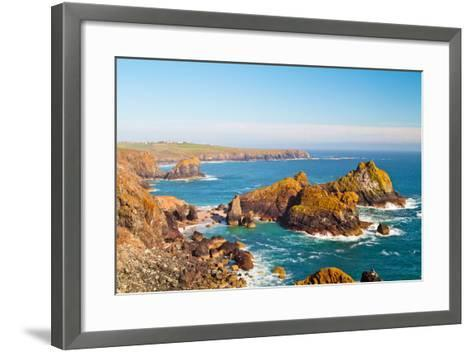 Kynance Cove, Lizard, Cornwall, England, United Kingdom, Europe-Kav Dadfar-Framed Art Print