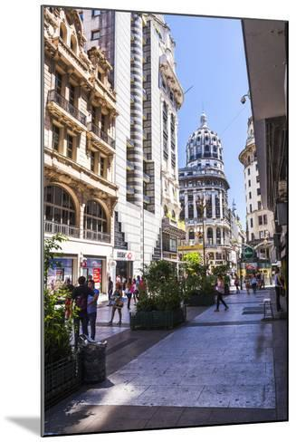 Floride Street, Downtown Buenos Aires, Argentina, South America-Matthew Williams-Ellis-Mounted Photographic Print