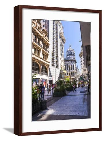 Floride Street, Downtown Buenos Aires, Argentina, South America-Matthew Williams-Ellis-Framed Art Print