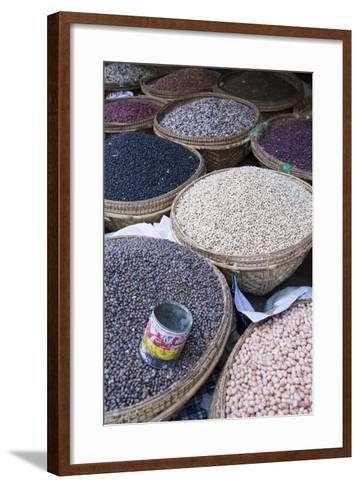 Pulses in the Market, Monywa, Sagaing, Myanmar, Southeast Asia-Alex Robinson-Framed Art Print