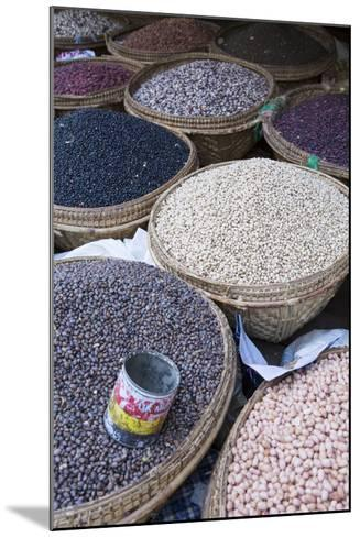 Pulses in the Market, Monywa, Sagaing, Myanmar, Southeast Asia-Alex Robinson-Mounted Photographic Print