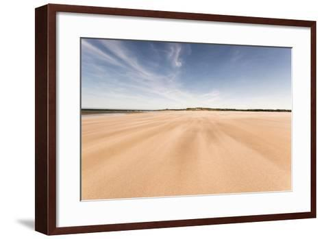 Budle Bay, Looking Towards Bamburgh, Northumberland, England, United Kingdom, Europe-Bill Ward-Framed Art Print