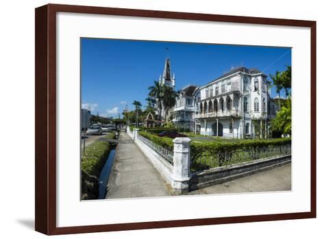 Colonial Building in Georgetown, Guyana, South America-Michael Runkel-Framed Art Print