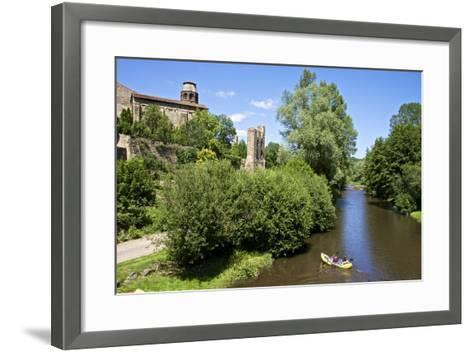 Ruins and Benedictine Abbey Tower, Auvergne-Guy Thouvenin-Framed Art Print