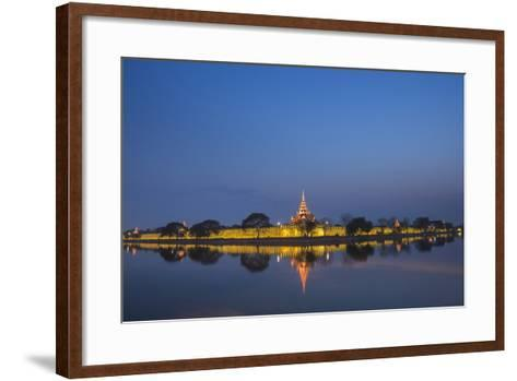 Mandalay City Fort and Palace Reflected in the Moat Surrrounding the Compound-Matthew Williams-Ellis-Framed Art Print