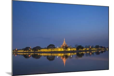 Mandalay City Fort and Palace Reflected in the Moat Surrrounding the Compound-Matthew Williams-Ellis-Mounted Photographic Print