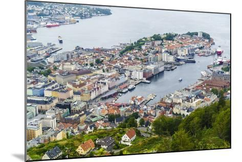 View over the City from Mount Floyen, Bergen, Norway, Scandinavia, Europe-Amanda Hall-Mounted Photographic Print