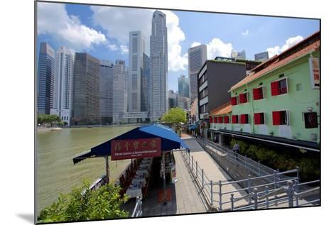 Boat Quay, Singapore, Southeast Asia-Frank Fell-Mounted Photographic Print