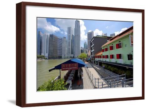 Boat Quay, Singapore, Southeast Asia-Frank Fell-Framed Art Print