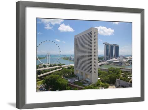 Singapore Flyer from South Beach, Singapore, Southeast Asia-Frank Fell-Framed Art Print