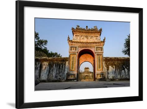 Gate, Tomb of Emperor Tu Duc of Nguyen Dynasty, Dated 1864, Group of Hue Monuments-Nathalie Cuvelier-Framed Art Print