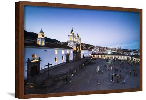 Plaza De San Francisco and Church and Convent of San Francisco at Night, Old City of Quito, Ecuador-Matthew Williams-Ellis-Framed Art Print
