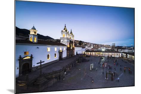 Plaza De San Francisco and Church and Convent of San Francisco at Night, Old City of Quito, Ecuador-Matthew Williams-Ellis-Mounted Photographic Print