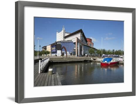 Goteborgsoperan Opera House, Lilla Bommen Harbour, Gothenburg, West Gothland, Sweden, Scandinavia-Stuart Black-Framed Art Print