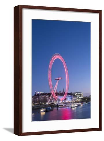 The London Eye at Night Seen from Golden Jubilee Bridge, London, England, United Kingdom, Europe-Matthew Williams-Ellis-Framed Art Print