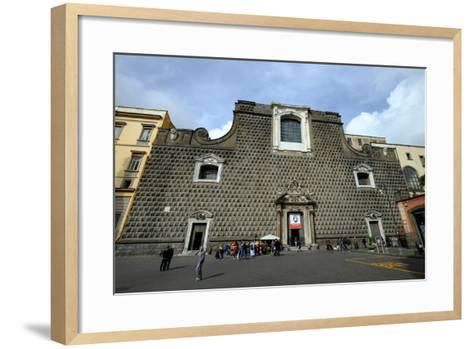 Church of Gesu Nuovo, Naples, Campania, Italy, Europe-Carlo Morucchio-Framed Art Print