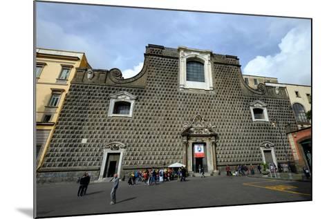 Church of Gesu Nuovo, Naples, Campania, Italy, Europe-Carlo Morucchio-Mounted Photographic Print