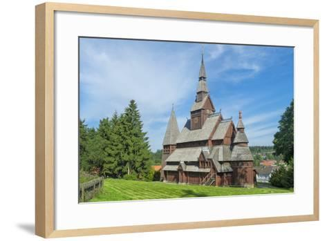 Protestant Gustav Adolf Stave Church, Hahnenklee, Harz, Lower Saxony, Germany, Europe-G & M Therin-Weise-Framed Art Print