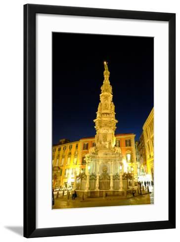 Obelisco Dell'Immacolata, Piazza Del Gesu Nuovo, Naples, Campania, Italy, Europe-Carlo Morucchio-Framed Art Print