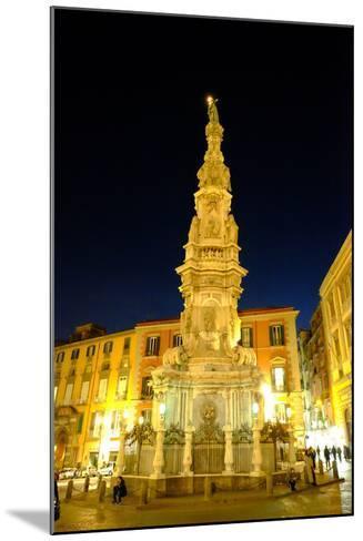 Obelisco Dell'Immacolata, Piazza Del Gesu Nuovo, Naples, Campania, Italy, Europe-Carlo Morucchio-Mounted Photographic Print
