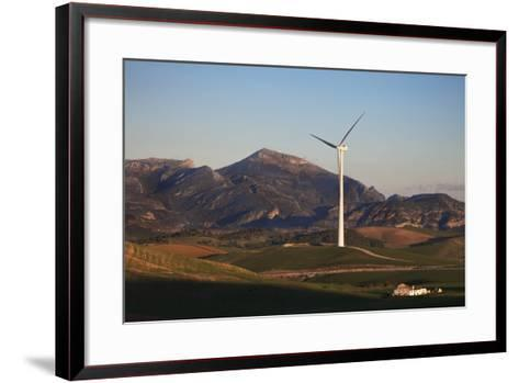 Windfarm Amidst Farmland Near Ardales, Andalucia, Spain--Framed Art Print